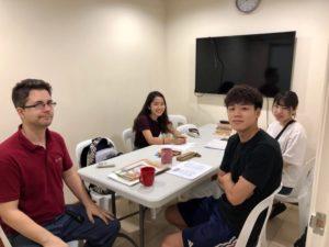 ETHOS English class high school students