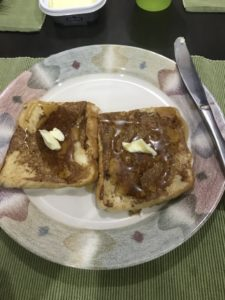 French toast for breakfast while studying English in Cebu