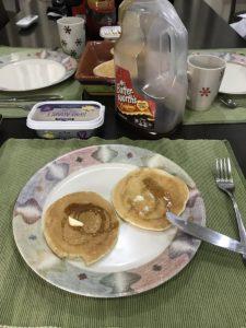 Pancake for breakfast while studying English in Cebu