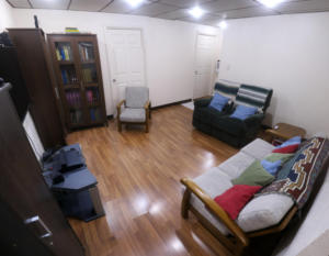 Ethos English school Accommodation home stay living room