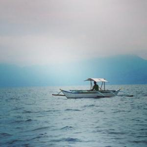 Puraran boat in the ocean