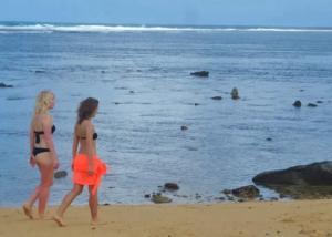 Puraran morning walk on the beach