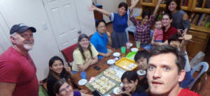 Ethos English school cebu activities eating together